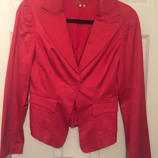 Bebe red jacket