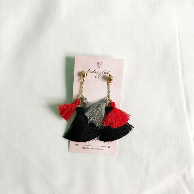 Bedazzled Tassel Earrings