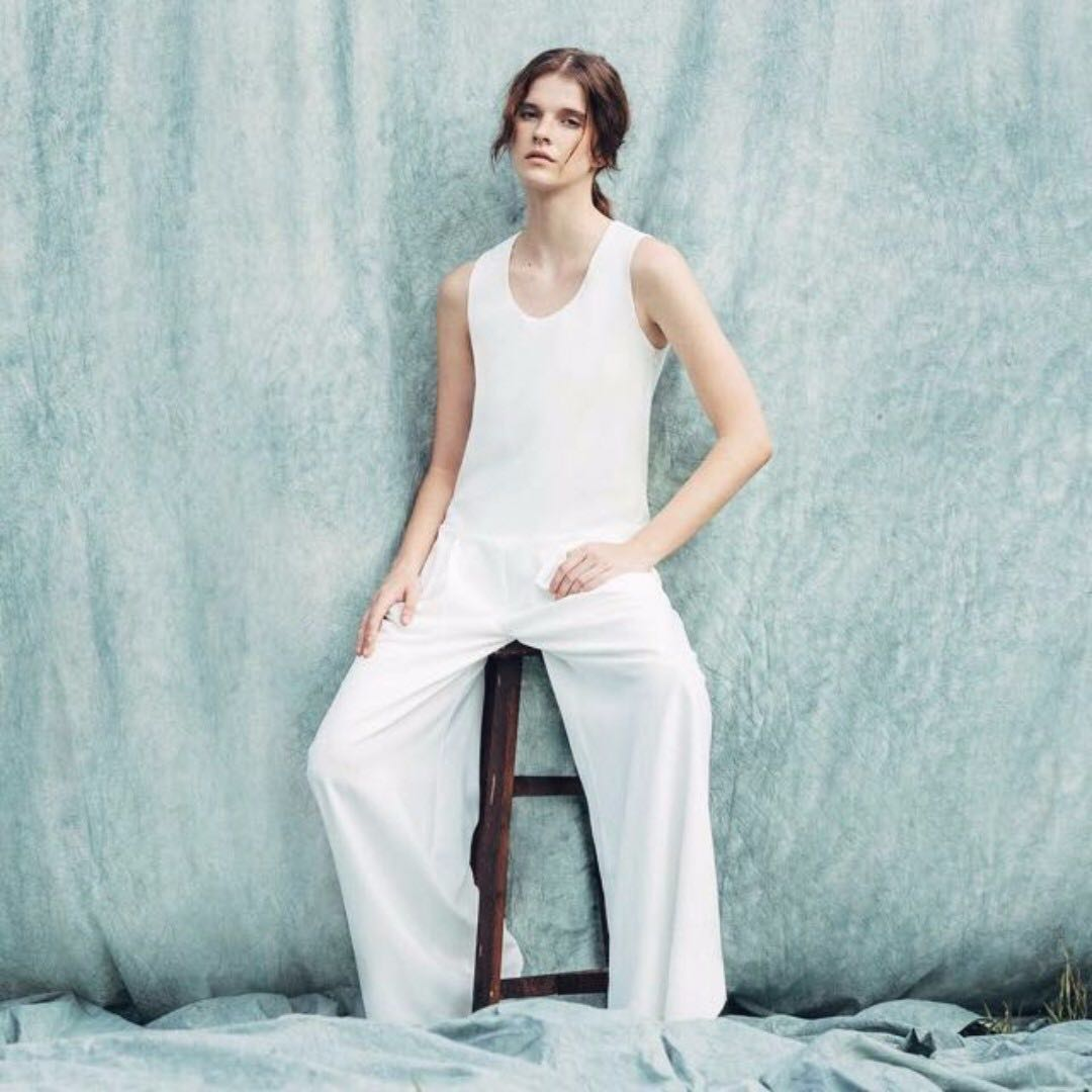 BEYOND THE VINES Jumpsuit in White