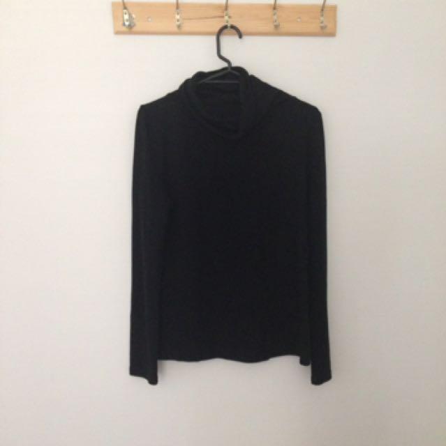 Black turtleneck top