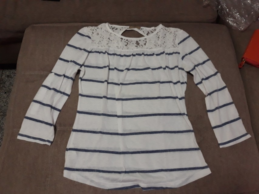 Blue & white stripes blouse
