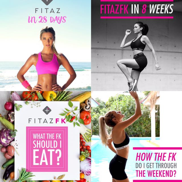 Bundle of fitazfk fitness and healthy eating guides