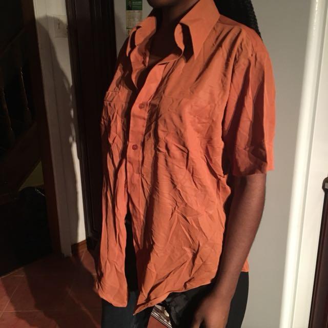Button Up light rust top