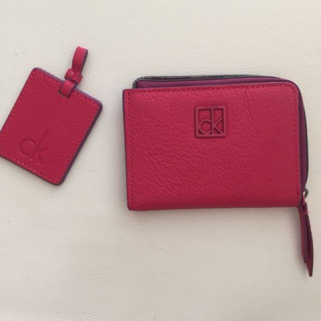 Calvin Klein pink wallet