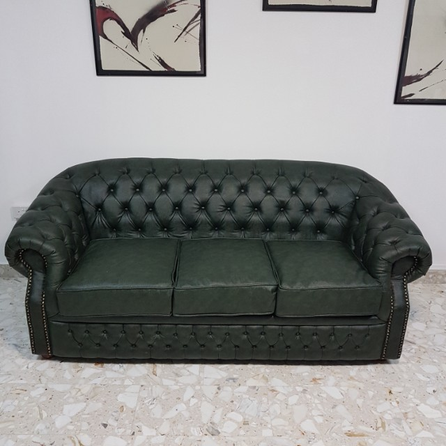 Chesterfield Sofa Furniture Sofas On Carousell