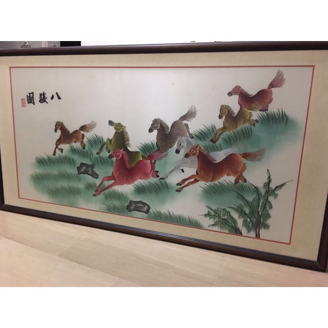 Chinese Painting - 8 Horses