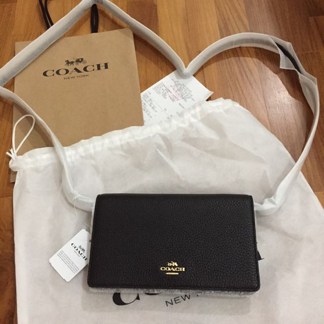 Coach Leather Clutch Sling