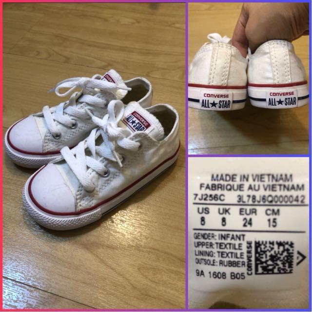 bffb5da5d51b Converse Kids White Chucks (size 8us)