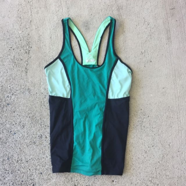 Cotton On Body Green Sport Crop Top Tank