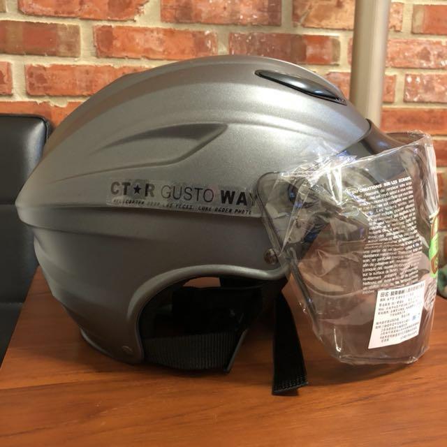 全新🎉CTR S-180雪帽(特大雪帽)安全帽 附鏡片 全可拆洗(平灰)