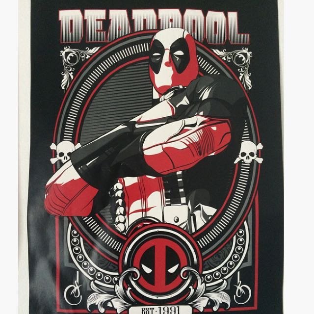 Deadpool Poster Marvel Books Stationery Comics Manga On Carousell