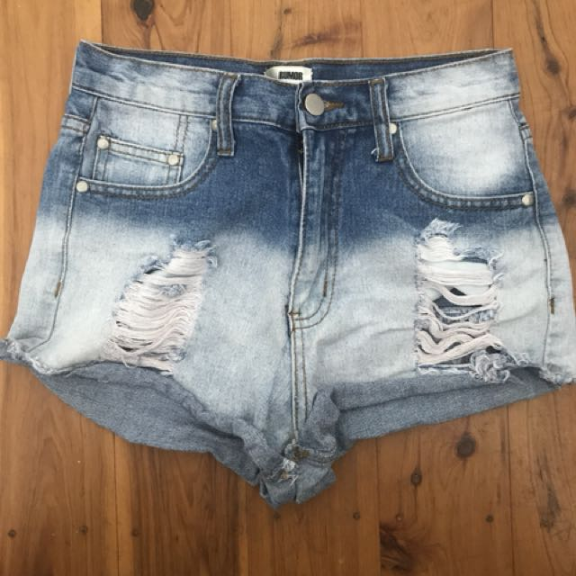 Denim ripped jeans size 8