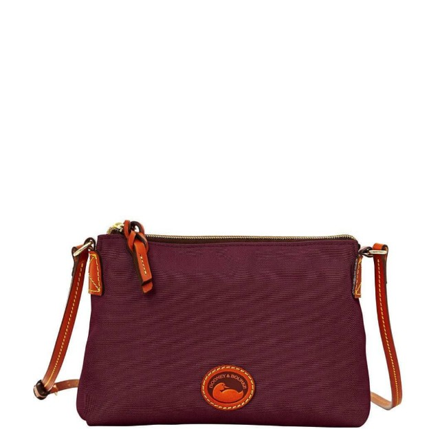 Dooney and Bourke Nylon and Leather Crossbody Pouchette