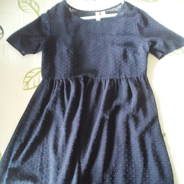 Dress Biru Totol