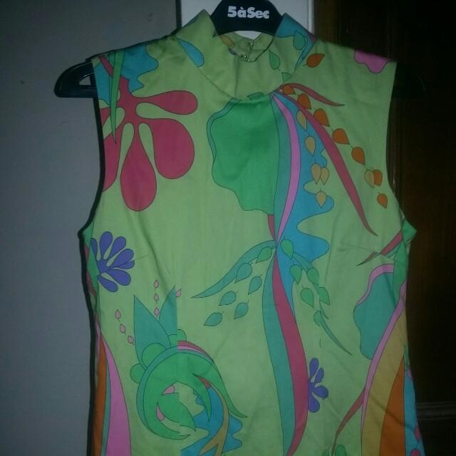 Dress bunga2 hijau