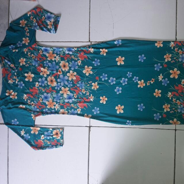 Dress Flower Hijau