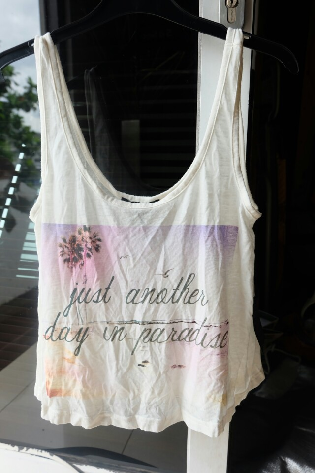 F21 Tank Top Lose White