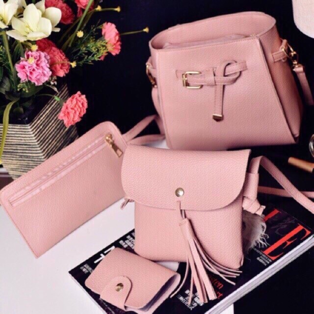 Fashion Korean 4 in 1 Bag