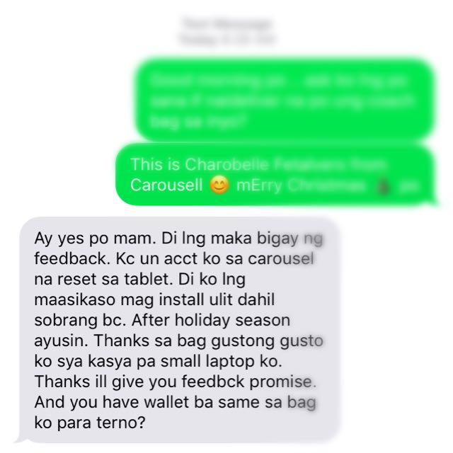 Feedback time .. Happy Client 😊thank you po Ms M