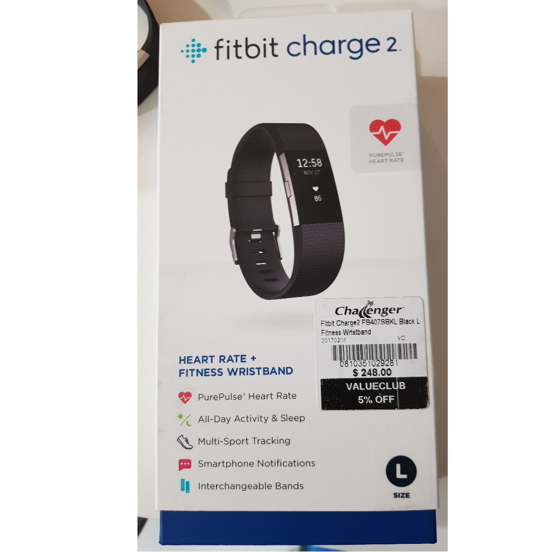 Fitbit Charge 2 - excellent conditipn and with box