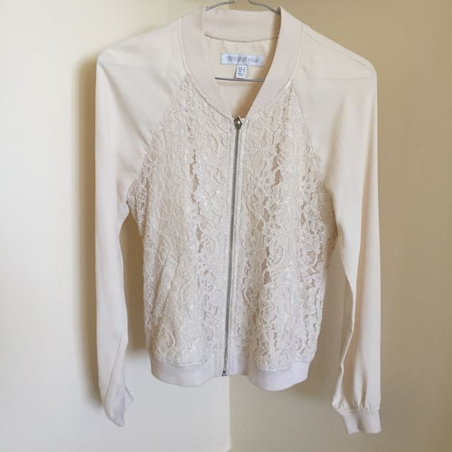 Forever New lace bomber jacket