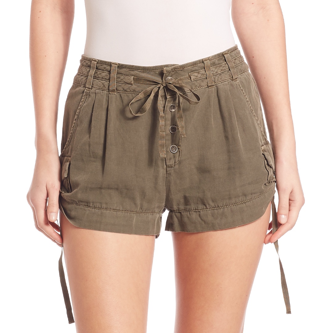 efd7113f85 Free People Melvin Soft Roll Cargo Shorts in Desert Sand, Women's ...