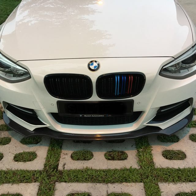 Front Splitter Lip For Bmw 1 Series F20 Rieger Style Car