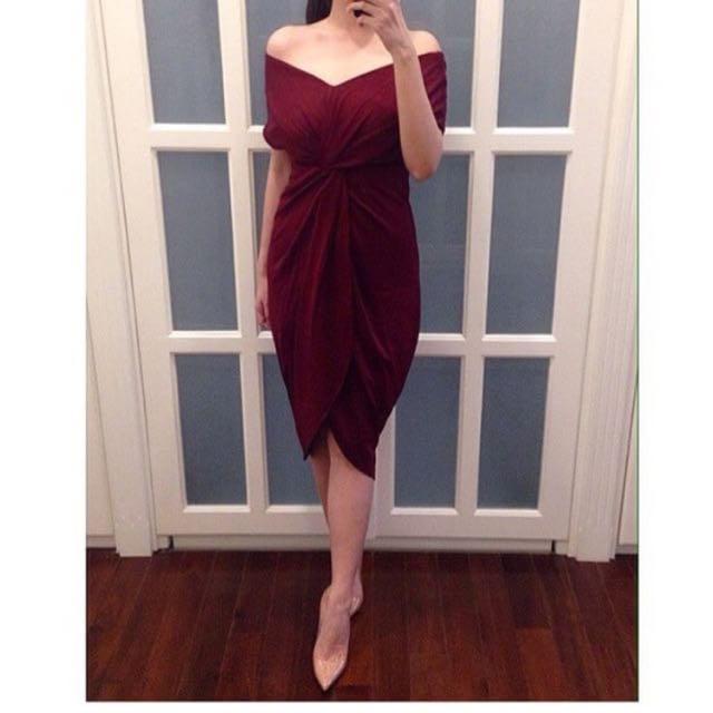 Gigi Front Dress Bahan Wedges Kulit Jeruk Fit L Olshop Fashion