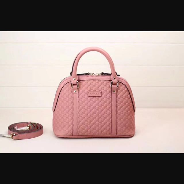 7c08ee1b4d92 Gucci Signature Leather Top Handle Bag Pink 449654, Luxury, Bags ...