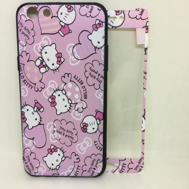 hello kitty case + tempered oppo f3