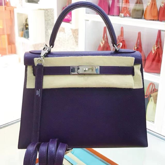 ea99785e87c Hermes Kelly 28 葡萄紫🍇 Epsom皮💫外縫🚀現貨