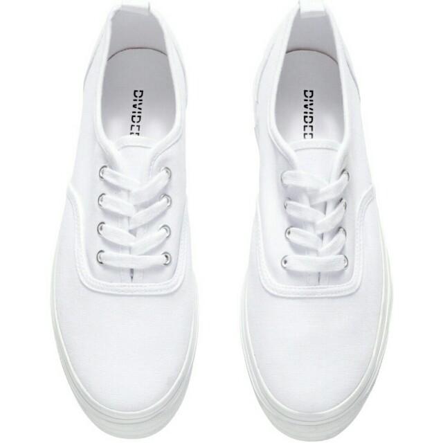 H&M Platform White Shoes