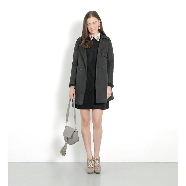 HVV Hervelvetvase Vanity Trench Coat Black XL