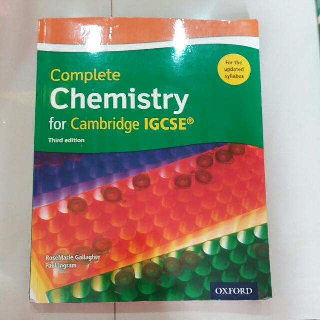 Igcse chemistry third edition textbooks on carousell photo photo photo fandeluxe Image collections