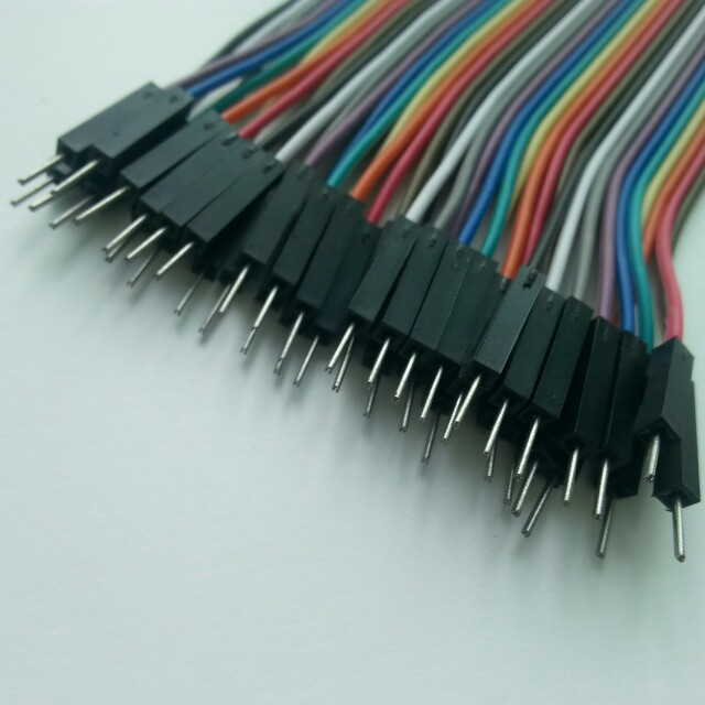20cm Jumper Wires 40-way for Breadboarding with Arduino Raspberry Pi ...