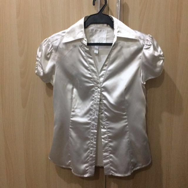 Kamiseta White Silk Blouse