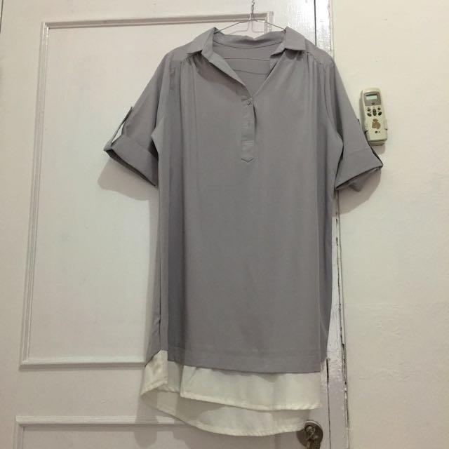 Kemeja abu2 / grey ( blouse)