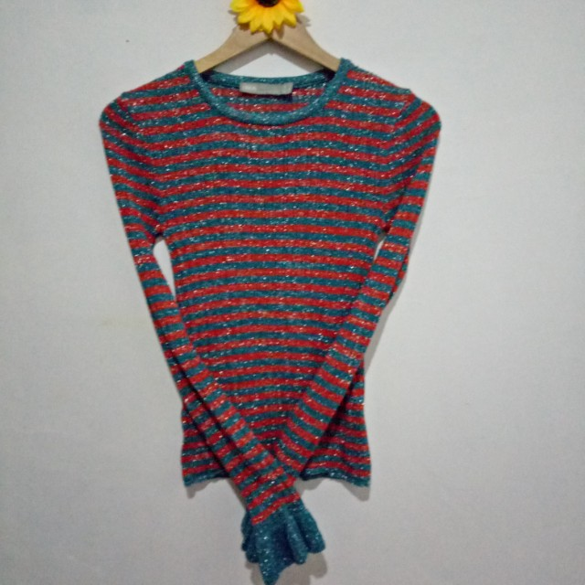 Knit striped pullover