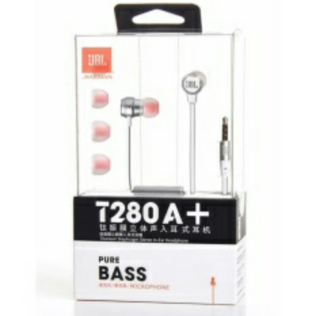 (LAST SET!) JBL T280A+ In-Ear Stereo Wired Headphones