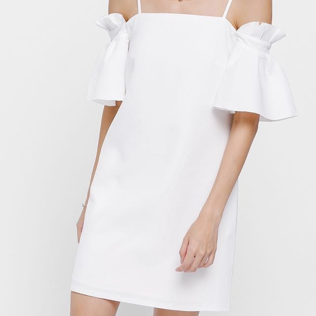 f5d8ce45eb Love Bonito Nadele Ruffled Off Shoulder Dress in White (S Size ...