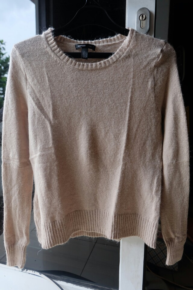 Mango sweater light brown