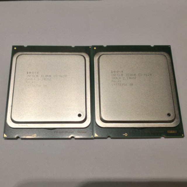 Matched Pair Intel Xeon E5-4620, 8 Cores 16 Threads per CPU, Quad CPU  Support LGA 2011-1, X79, C606, C602