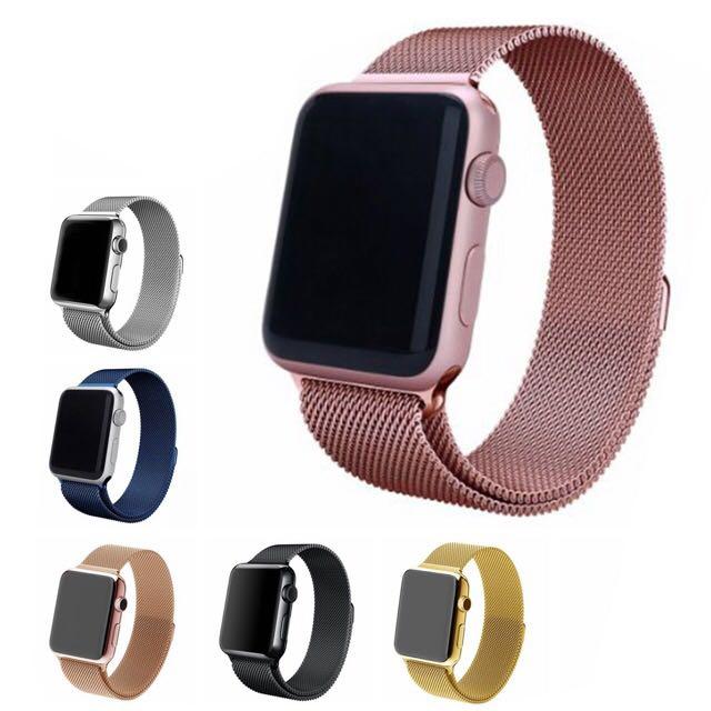 Milanese Loop Watchband Magnetic Strap 38mm 42mm Apple Watch