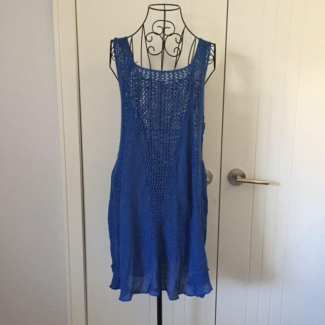 (M-L) Crochet beach dress