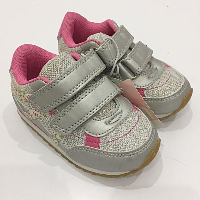 Mothercare Silver-Pink Sneakers
