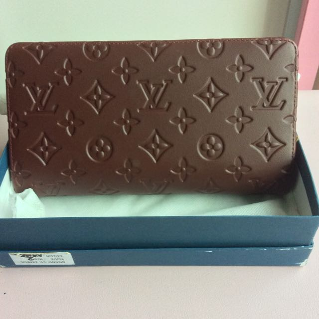 (NEW) LV Embossed Plum Wallet