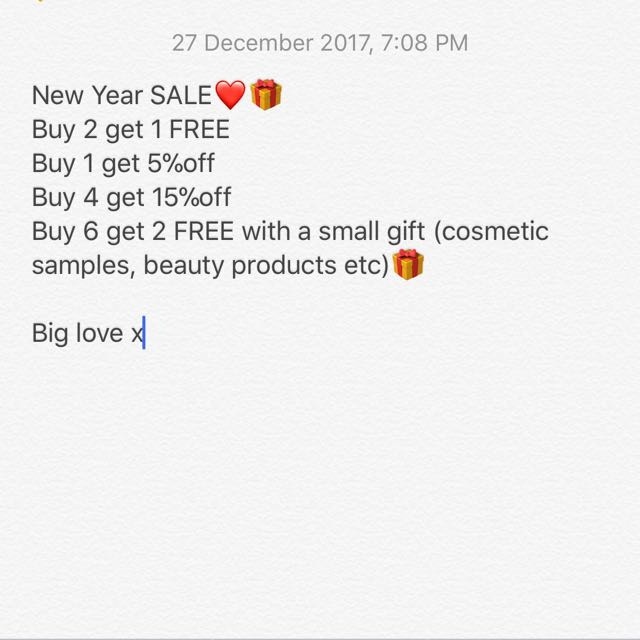New Year Sale💕