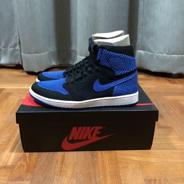 78e36a5c271 Nike Air Jordan 1 Retro Hi Flyknit Royal