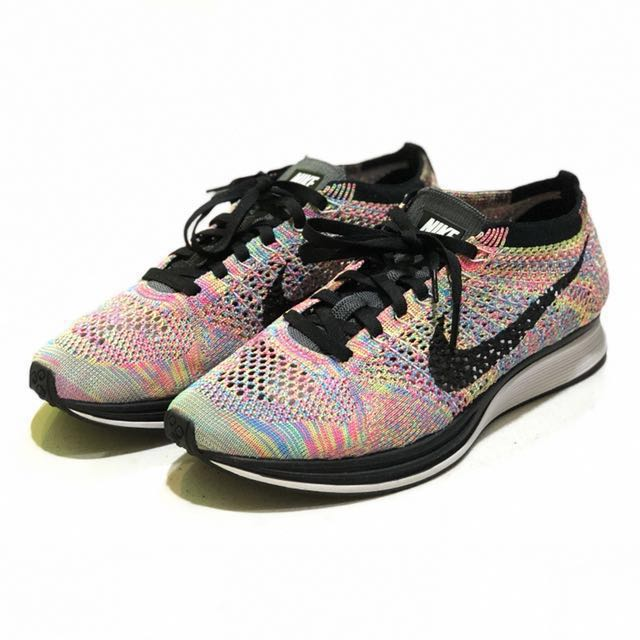 watch 83285 d717e Nike Flyknit Racer Multicolor Grey Tongue Paddlepop Rainbow, Men s ...