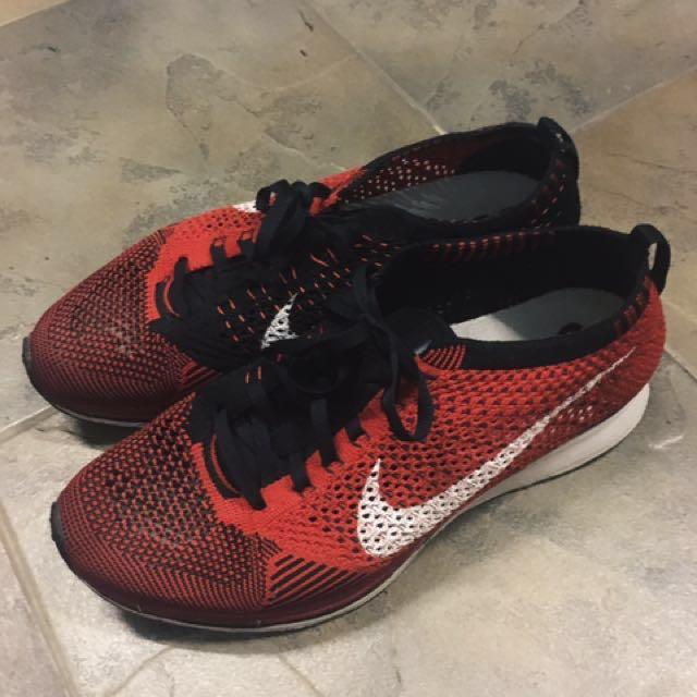 cfb683476cae Nike Flyknit Racer University Red